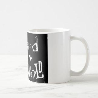 Dañado - edición del logotipo taza básica blanca