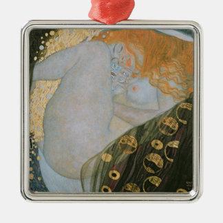 Danae, 1907-08 (oil on canvas) Silver-Colored square ornament