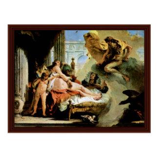 Danae And Zeus By Tiepolo Giovanni Battista Postcard