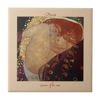 Danaë by Gustav Klimt Ceramic Tile