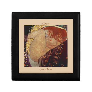 Danaë by Gustav Klimt Tiled Lacquered Box Jewelry Boxes