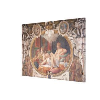 Danae Receiving the Shower of Gold Canvas Print