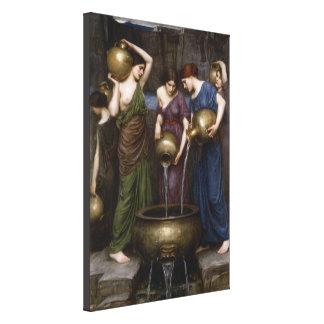 Danaides by John William Waterhouse Canvas Print