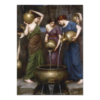 Danaides by John William Waterhouse 5.5x7.5 Paper Invitation Card