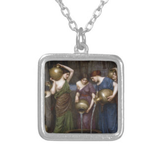 Danaides by John William Waterhouse Square Pendant Necklace