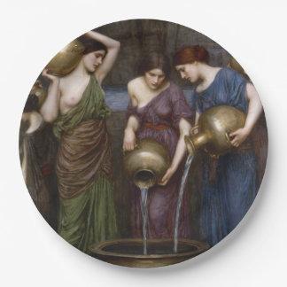 Danaides de John William Waterhouse Plato De Papel De 9 Pulgadas