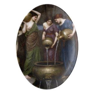 Danaides John William Waterhouse Badeja De Porcelana