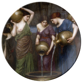 Danaides John William Waterhouse Platos De Cerámica