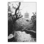 Danang Vietnam, Temple View Marble Mountain Greeting Cards