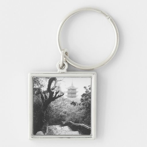 Danang Vietnam, Temple View Marble Mountain Key Chains