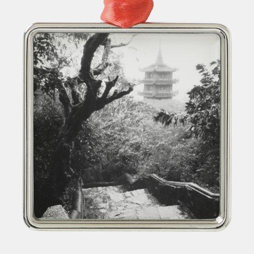 Danang Vietnam, Temple View Marble Mountain Square Metal Christmas Ornament