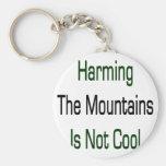 Dañar las montañas no es fresco llavero personalizado