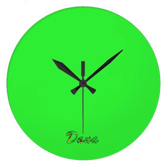 Dana's green wall clock