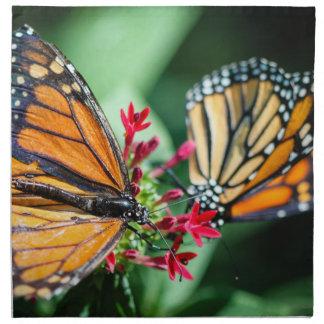 Danaus Plexippus del monarca Servilletas Imprimidas