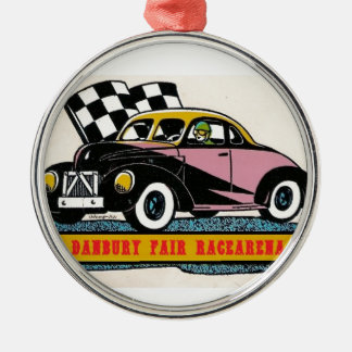 Danbury Fair Racearena Coupe Modified SNYRA Logo Metal Ornament