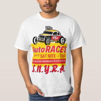 Danbury Fair Speedways Racearena Sign Logo Yellow T-Shirt