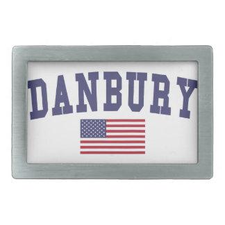 Danbury US Flag Rectangular Belt Buckle