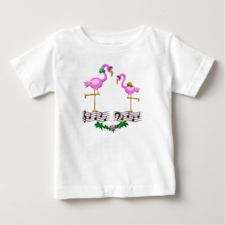 Danccing Flamingos Baby T-Shirt