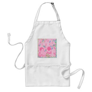 Dance 妓 with flower and invitation cat adult apron