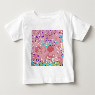 Dance 妓 with flower and invitation cat baby T-Shirt