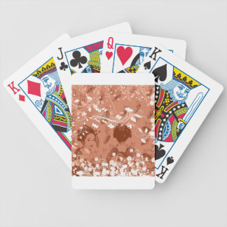 Dance 妓 with flower and invitation cat bicycle playing cards