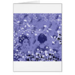 Dance 妓 with flower and invitation cat greeting card