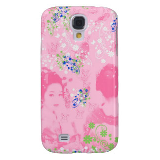 Dance 妓 with flower and invitation cat samsung galaxy s4 cases