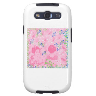 Dance 妓 with flower and invitation cat samsung galaxy s3 case