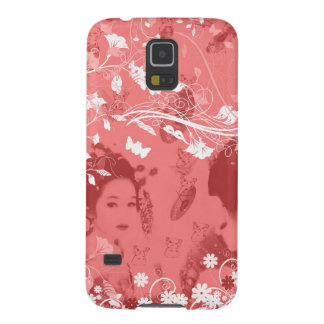 Dance 妓 with flower and invitation cat cases for galaxy s5
