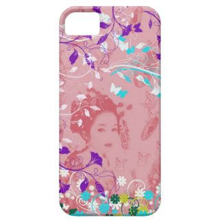 Dance 妓 with flower and invitation cat iPhone 5 covers