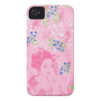 Dance 妓 with flower and invitation cat Case-Mate iPhone 4 case