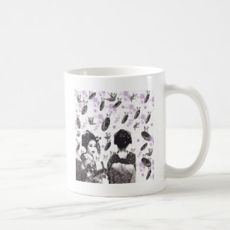 Dance 妓 with flower and invitation cat coffee mug
