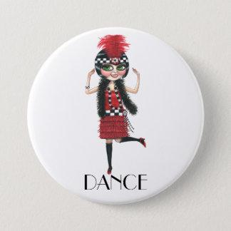 Dance 1920s Costume Big Eye Flapper Girl Button