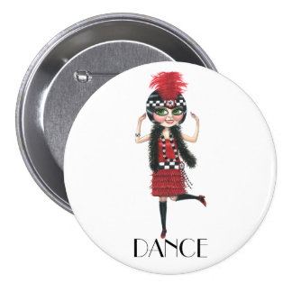Dance 1920s Costume Big Eye Flapper Girl Button