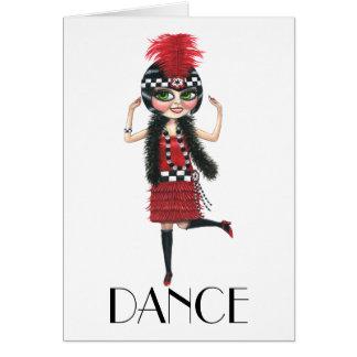 Dance 1920s Costume Big Eye Flapper Girl Card