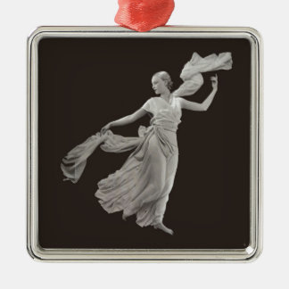 Dance - 1930s square metal christmas ornament