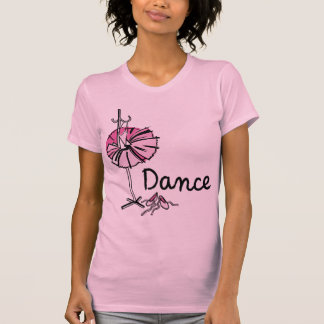 dance_1pinkPink Dance Front - Pink Ballet Slippers T-shirts