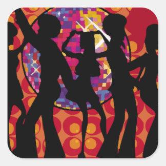 dance-295134  dance party disco music 60ies silhou square sticker