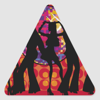 dance-295134  dance party disco music 60ies silhou triangle sticker