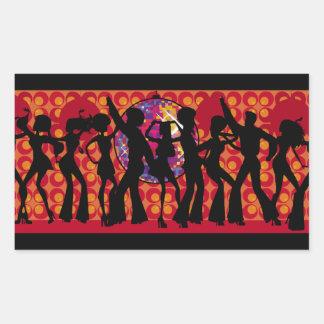 dance-295134  dance party disco music 60ies silhou rectangular sticker