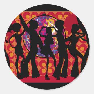 dance-295134  dance party disco music 60ies silhou classic round sticker