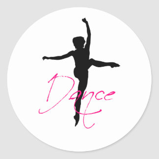 dance_2 classic round sticker