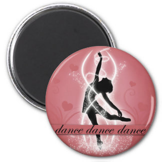 Dance 2 Inch Round Magnet