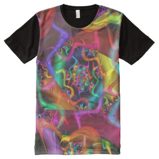 Dance 2 Psychedelic Abstract Fine Fractal All-Over Print Shirt