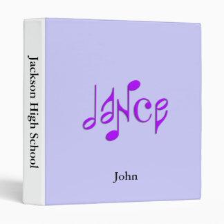 dance 3 ring binder