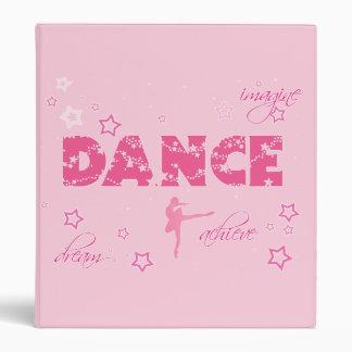 Dance 3 Ring Binder Imagine Dream Achieve