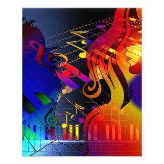 dance-409011 dance music treble clef sound concert custom flyer