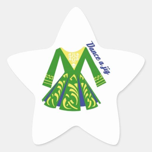 Dance a Jig Star Sticker