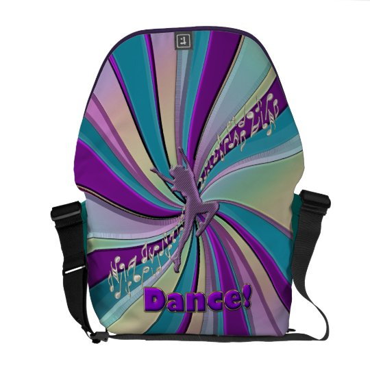 Dance! A Joyous Celebration in Swirling Color Courier Bag