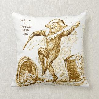 Dance a Little Irish Jig Throw Pillow